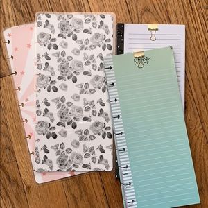 Happy Planner Skinny Classic cover and sheets